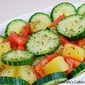 Cucumber, Tomato, Pineapple Salad