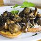 Seared mushroom bruschetta