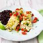 Crockpot Salsa Verde Chicken Enchiladas