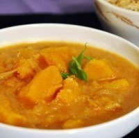 Vegetarian Pumpkin Curry with Butternut Squash and Basil