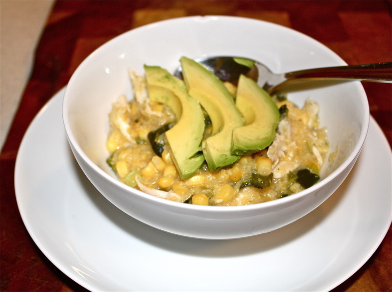 Mexican Corn and Poblano Soup with Roasted Chicken