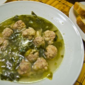 Escarole Soup with Tiny Meatballs