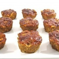 Skinny Meatloaf Muffins with Barbecue Sauce, Yummy!