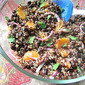 Quinoa Salad w/ Black Bean, Orange & Cilantro Dressing