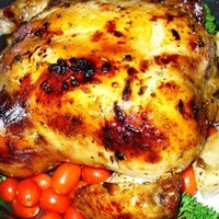 Roast Chicken with Lemon and Herb Marinade
