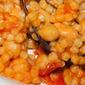 Fregola sarda piccante con ceci e cozze