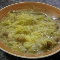 Potato, Broccoli, Ham Soup - Apple Cranberry Crisp