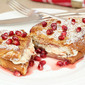 Cream Cheese Stuffed French Toast with Pomegranate & How to Clean a Pomegranate