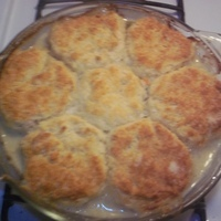 Chicken Pot Pie with Biscuit Crust