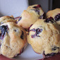 Whole wheat blueberry muffins from pancake mix