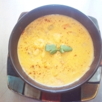 Southwestern Cream of Potato Soup with Chorizo