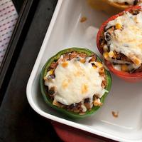 Secret Recipe Club: Mexican-Style Vegetarian Stuffed Peppers