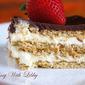 Vanilla and Chocolate Eclair Dessert