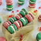 Christmas Macarons wtih Advocaat Butter cream