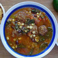 Roasted Vegetable Taco Soup with Meatballs