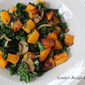 Sauteed Kale with Roasted Butternut Squash, and Mushrooms