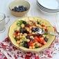 Chickpea & Vegetable Salad with Yogurt Tahini Dressing