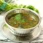 Coriander Leaves Rasam (Tangy Peppery Indian Soup)
