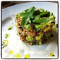 Salmon & Avocado Tartare w/ Horseradish Cream & Cilantro Oil