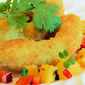 Crumbed Avocado with Mango Salsa