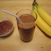 Chocolate Banana Goji Drink