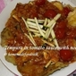 Tempura in tomato sauce with noodle