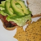 BLAT On Lightly Toasted Wheat Bread With Wasabi Mustard & Light Mayonnaise Served With Soy & Flaxseed Tortilla Chips