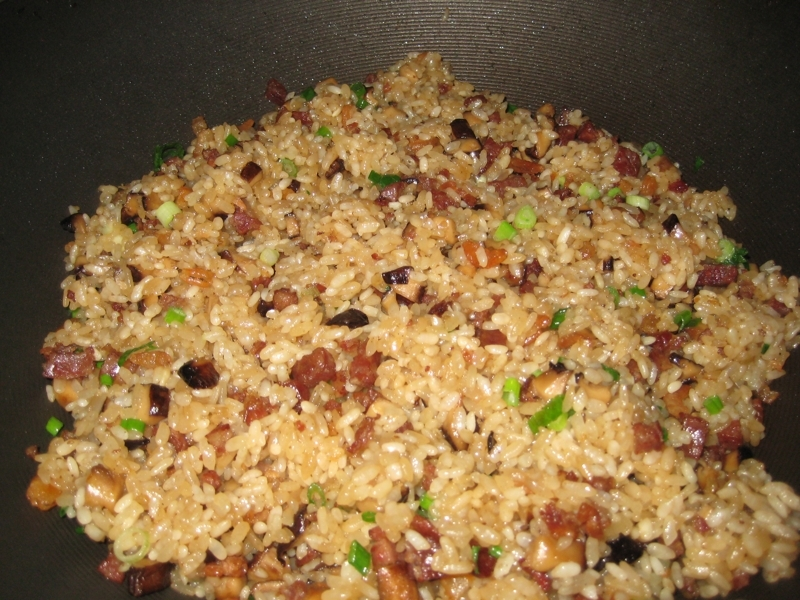 Cantonese Chinese Stir-Fried Sticky Rice / Chow Lor Mei Fan