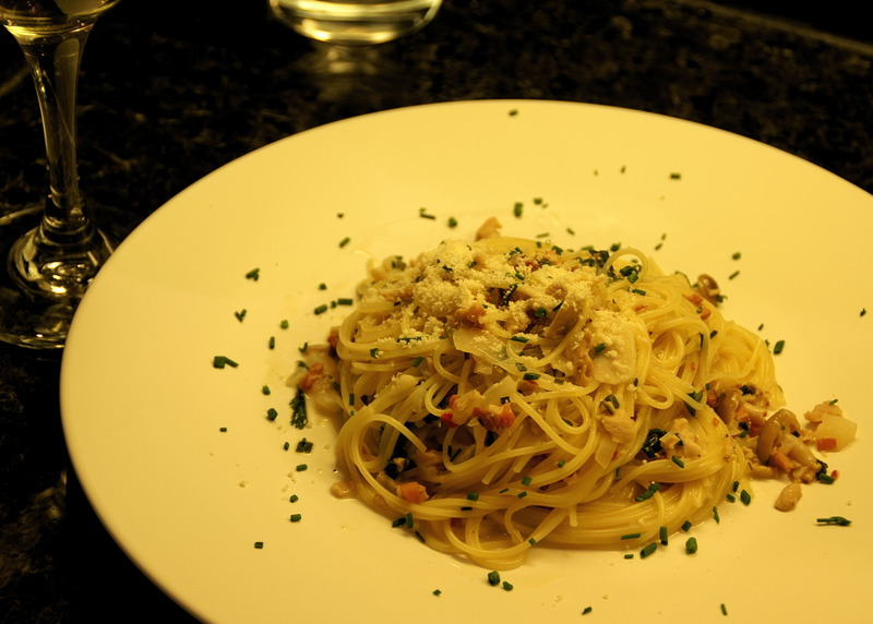 Clam Sauce with Angel Hair Pasta