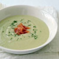 Fennel-potato Soup with Smoked Salmon
