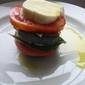 recipe: eggplant, tomato and fresh mozzerella napoleons