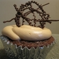Happy Birthday Milky Way Cupcakes with Caramel Buttercream Frosting