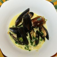 Curry Cream Mussels