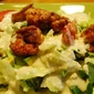 Buffalo Shrimp Salad with Spicy Blue Cheese Dressing