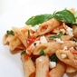 Tomato, Basil and Feta on Penne