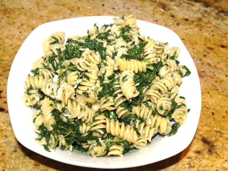 Pasta with Spinach, Ricotta, Ham