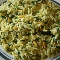 Spinach Basil Orzo