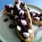 BEET, PESTO AND GOAT CHEESE CROSTINI