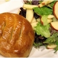 Artichoke Stuffed Mushroom Pies with Simple Salad