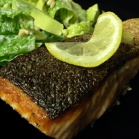 Crisp Salmon with Citrus Avocado Salad