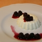 Panna Cotta with Blackberries