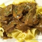 Quick and Tasty...Steak Tips with Peppered Mushroom Gravy