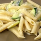 penne with zucchini in a lemon parmesan cream sauce