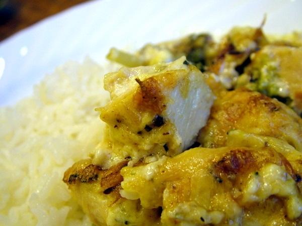 Curry Chicken and Broccoli Casserole