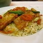 Orange Pork Stir-Fry with Brown Rice