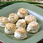 Mini Pepper Biscuits with Creamy Blue Cheese Spread Recipe