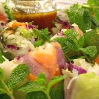 FRESH VIETNAMESE SPRING ROLLS WITH JICAMA SLAW AND GRAPEFRUIT