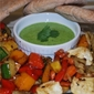 Grilled Vegetables with Cilantro Sauce