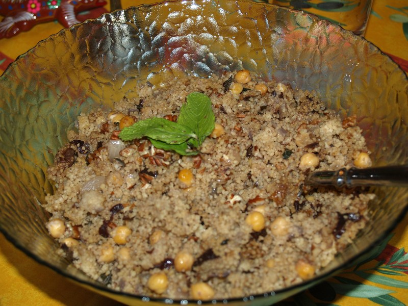 Cous Cous Salad with Prunes and Pecans