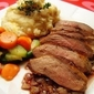 Pan Seared Duck Breast with POM-Thyme Reduction Sauce